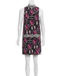 Wes Gordon - Lace-trimmed Mini Dress - Lyst