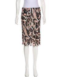 Miu Miu - Miu Printed Knee-length Skirt - Lyst