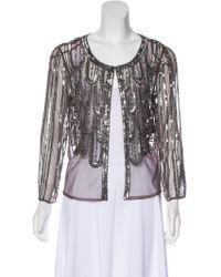 Aidan Mattox - Embellished Evening Jacket W/ Tags Grey - Lyst