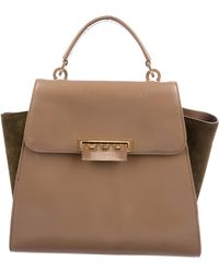 Zac Posen - Zac Leather Eartha Satchel Gold - Lyst
