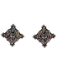 M.c.l  Matthew Campbell Laurenza - Sapphire Maltese Cross Earrings Silver - Lyst