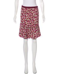 Louis Vuitton - Abstract Print Knee-length Skirt Plum - Lyst