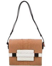 Delvaux - Madame Pm Python Shoulder Bag Brown - Lyst