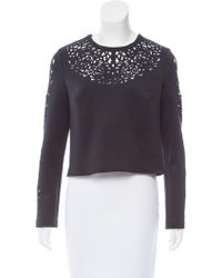 Clover Canyon - Laser Cut Long Sleeve Top - Lyst