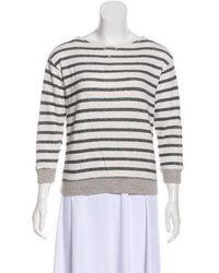 Steven Alan - Striped Terry Cloth Sweatshirt Grey - Lyst