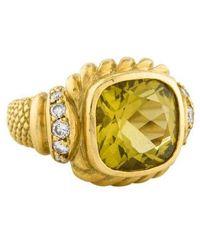 Judith Leiber - 18k Citrine & Diamond Cocktail Ring Yellow - Lyst