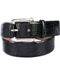 MICHAEL Michael Kors - Michael Kors Embossed Leather Belt - Lyst