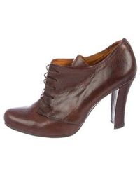 Henry Beguelin - Leather Round-toe Booties - Lyst