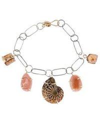 Melissa Joy Manning - Ammonite, Jasper & Agate Charm Bracelet Silver - Lyst