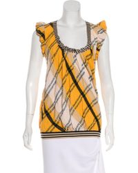 Christian Lacroix - Striped Knit Top - Lyst
