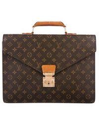Louis Vuitton - Monogram Serviette Conseiller Briefcase Brown - Lyst