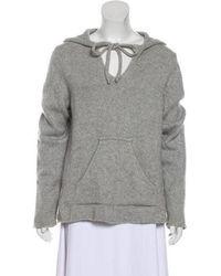Lucien Pellat Finet - Hooded Cashmere Sweater Grey - Lyst