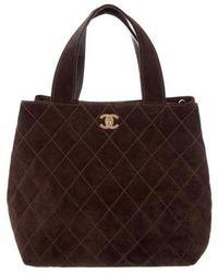 74374936698e Lyst - Dior Suede Medium Lady Bag Red in Metallic