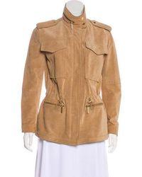 MICHAEL Michael Kors - Michael Kors Zip-up Leather Jacket - Lyst
