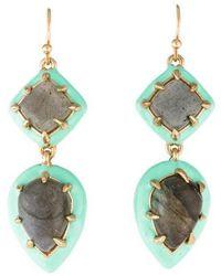 Alexis Bittar - Labradorite & Enamel Framed Drop Earrings Gold - Lyst