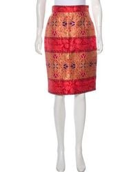 Christian Lacroix - Brocade Knee-length Skirt Red - Lyst