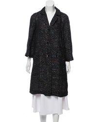 Peter Som - Embellished Wool-blend Coat - Lyst