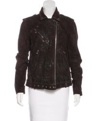 Balmain - Distressed Suede Jacket - Lyst