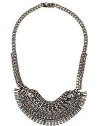 DANNIJO - Lilith Collar Necklace Silver - Lyst