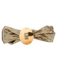 Donna Karan - Sequin Tie Belt Gold - Lyst