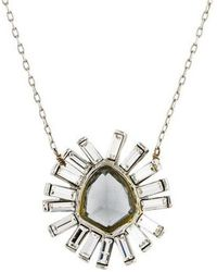 Alexis Bittar - Faceted Crystal Starburst Pendant Necklace Silver - Lyst