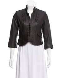 Robert Rodriguez - Cropped Leather Jacket - Lyst