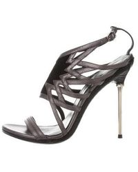 B Brian Atwood - Leather Sandals Black - Lyst