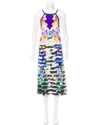 Mary Katrantzou - Silk Floral Print Dress W/ Tags Multicolor - Lyst