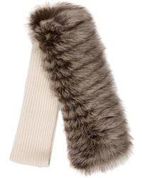 Carolina Herrera - Cashmere & Fox Fur Scarf W/ Tags - Lyst