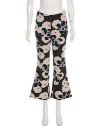 SUNO - Floral Flared Pants - Lyst