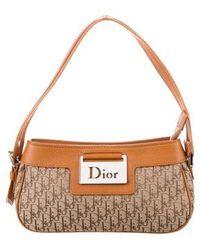 Dior - Leather-trimmed Diorissimo Pochette Tan - Lyst