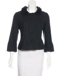 Philosophy di Alberta Ferretti - Wool Button-up Jacket Grey - Lyst 0fce6341b