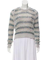 Theyskens' Theory - Embellished Long Sleeve Sweater Grey - Lyst