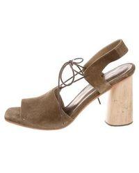Rachel Comey - Suede Lace-up Sandals Olive - Lyst