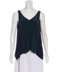 ff3d61d4dd1a5c Lyst - Elizabeth And James Sleeveless Mesh Top in Black