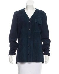 Timo Weiland - Leather Button-up Jacket - Lyst