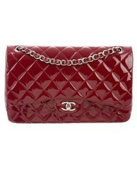 Chanel - Classic Jumbo Double Flap Bag Red - Lyst