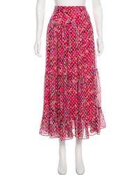 Saloni - Textured Midi Skirt - Lyst