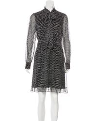 Diane von Furstenberg - Arabella Silk Dress Black - Lyst