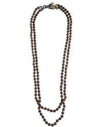 Kenneth Jay Lane - Enamel Ram's Head Bead Necklace Gold - Lyst