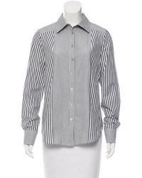 SUNO - Striped Button-up Top - Lyst