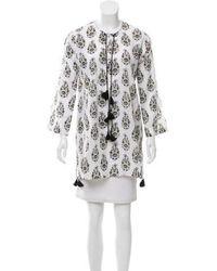 Banjanan - Floral Long Sleeve Tunic W/ Tags White - Lyst