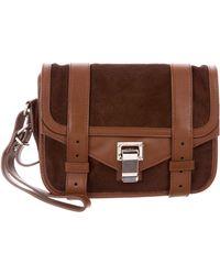 Proenza Schouler - Ponyhair & Leather Ps1 Wristlet Brown - Lyst