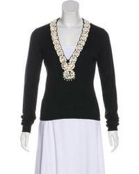 Naeem Khan - Embellished Cashmere & Silk Sweater - Lyst