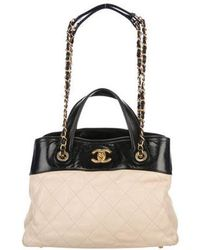 09e66692a6ea Lyst - Chanel In The Mix Flap Bag Blue in Metallic