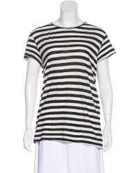 Proenza Schouler - Striped Short Sleeve T-shirt - Lyst