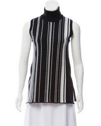 Edun - Sleeveless Striped Turtleneck Black - Lyst