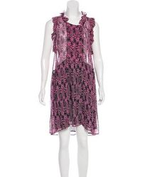 Étoile Isabel Marant - Silk Printed Sleeveless Dress - Lyst
