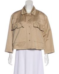 Hache - Ruffle-accented Casual Jacket W/ Tags Tan - Lyst