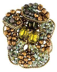 Erickson Beamon - Crystal Brooch Pin Gold - Lyst